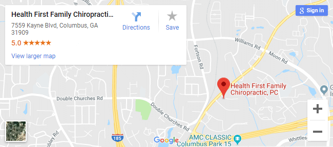 Map of Columbus Chiropractors